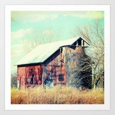Barn in the heartland Art Print