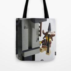 Lego Indian climbing Tote Bag