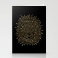 lannister Stationery Cards featuring lion / black by Anna Grunduls