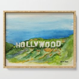 Hollywood Sign - An American Cultural Icon Serving Tray