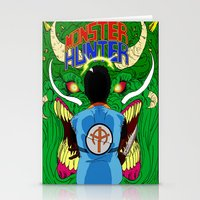 monster hunter Stationery Cards featuring Monster Hunter by Rasheed Daoud Hines