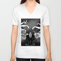 witchcraft V-neck T-shirts featuring Witchcraft by Merwizaur