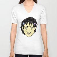 budi satria kwan V-neck T-shirts featuring Photogenic: Ren Kwan (color) by Gin and Cats