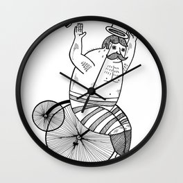 On wild and adventurous Penny-Farthling riders  Wall Clock