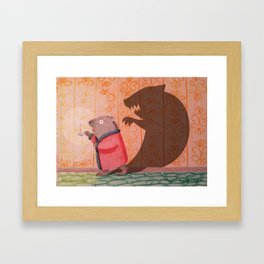 Frightened Phil Framed Art Print