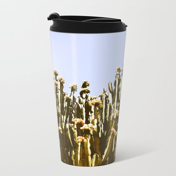 Sticky Cacti Metal Travel Mug