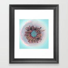 New York City mini world Framed Art Print