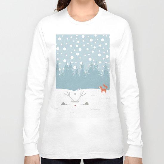 Deep Snow Long Sleeve T-shirt