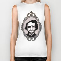edgar allan poe Biker Tanks featuring Edgar Allan Poe by Michael J.