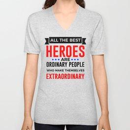 Super Heroes Superheroes Extraordinary Powers Unisex V-Neck