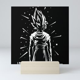 "GOKU ""I am the hope of the universe"" Mini Art Print"