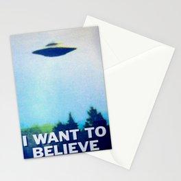 I WANT TO BELIEVE UFO Stationery Cards