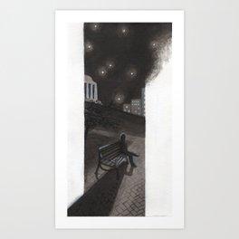 Nighttime in Richmond Art Print