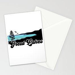 Great Lakes Coast Stationery Cards