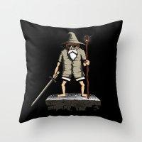 gandalf Throw Pillows featuring Gandalf genial by le.duc