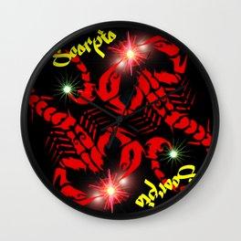 Scorpio Astrology Sign Wall Clock