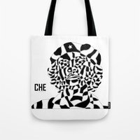 che Tote Bags featuring Che by Blake Thornley