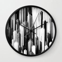 obelisk posture 2 (monochrome series) Wall Clock