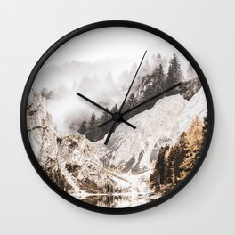 Collage Mountain12 Wall Clock