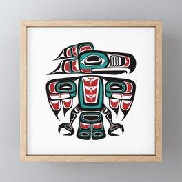Haida Tlingit Native Raven Totem Framed Mini Art Print