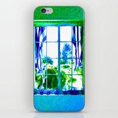 Cool Blue Window iPhone & iPod Skin