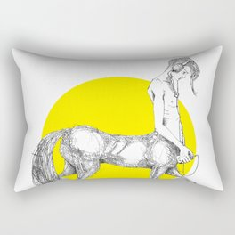Young centaur with headphones and mp3 player Rectangular Pillow