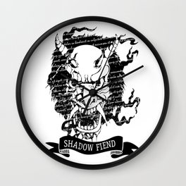 MASK OF DEATH Wall Clock