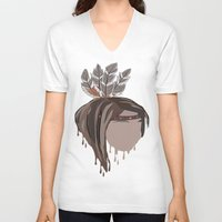 indian V-neck T-shirts featuring INDIAN by Kritika Kripakaran