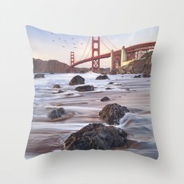 Golden Gate Bridge, San Francisco Throw Pillow