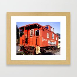 Lil Red Caboose -Wellsboro Ave Hurley ArtRave Framed Art Print