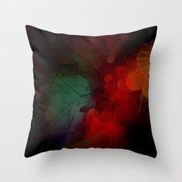 Dark Geometric Pattern Design Throw Pillow