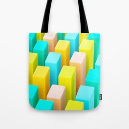 Color Blocking Pastels Tote Bag