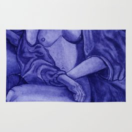 Lady Unknown Blue Rug