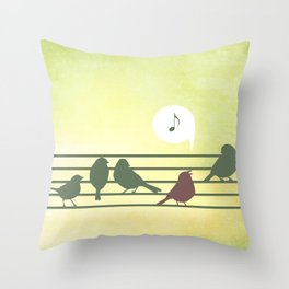 Songbird Throw Pillow