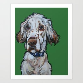 Ollie the English Setter Art Print