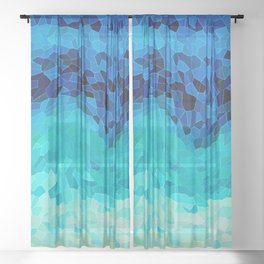 INVITE TO BLUE Sheer Curtain
