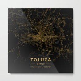 Toluca, Mexico - Gold Metal Print