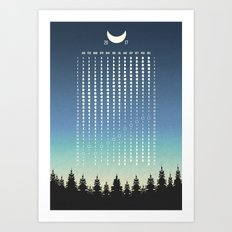 Moon Phases 2017 North Art Print