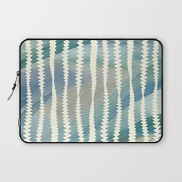 Banksia Leaf Lines in Blue and Butter Laptop Sleeve