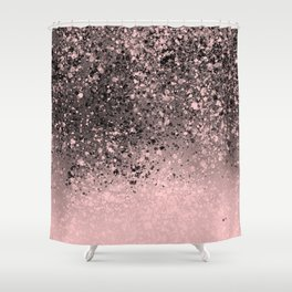 Pink Splatter Abstract Shower Curtain