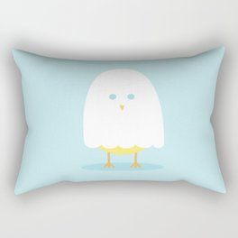 Halloween chick in ghost costume Rectangular Pillow