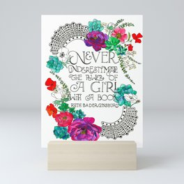 Girl With A Book Mini Art Print