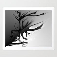 The Double Edged Tree I Art Print