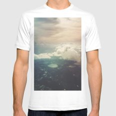The sky White Mens Fitted Tee MEDIUM