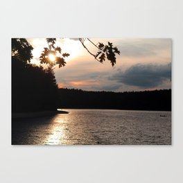 Sunset at Concord's Walden Pond 5 Canvas Print