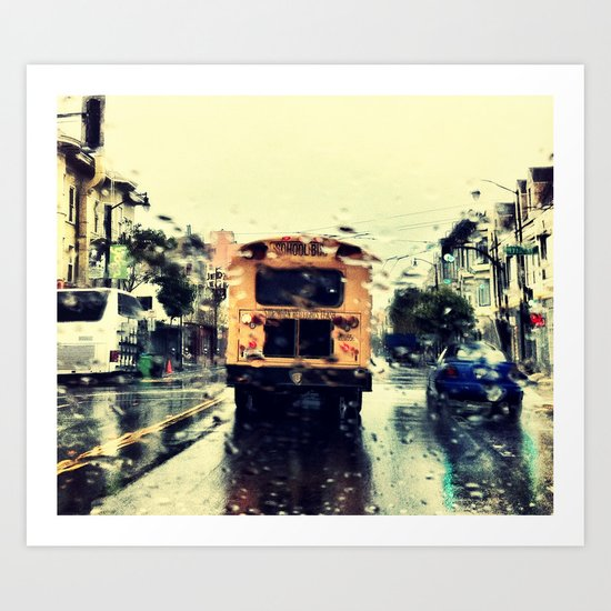 frisco kid // yellow bus Art Print