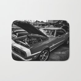 Classic Camaro (Black &White) Bath Mat