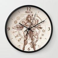 da vinci Wall Clocks featuring Project M - Da Vinci Edition by Emilie Boisvert
