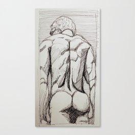 Male Back Sketch Canvas Print