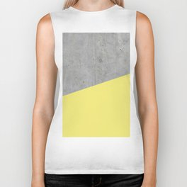 Concrete and Yellow Color Biker Tank